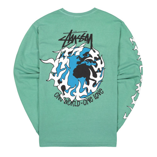 Stussy One Love Pigment Dyed Longsleeve Tee ( 1994532 / 0411 / Moss )