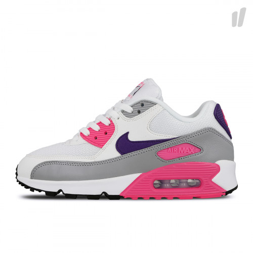 Nike Air Max 90 Essential White Court Purple Wolf Grey Shoes Best Price 325213 136