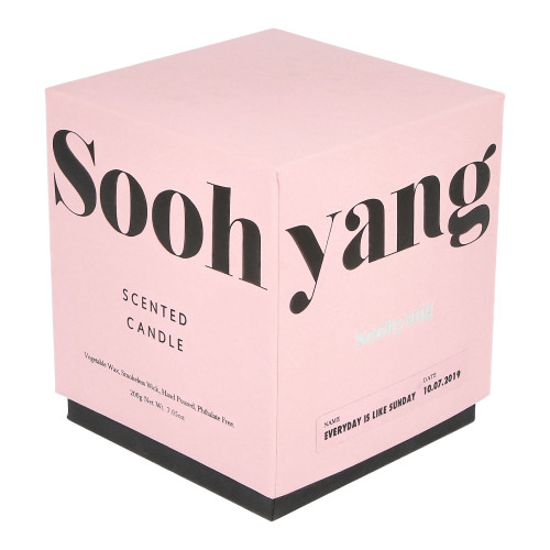 Soohyang Scented Candle 200g ( SSC / Everyday Is Like Sunday )