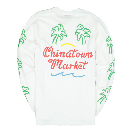 Chinatown Market Palm Long Sleeve ( CTSU19-PLLS / White )