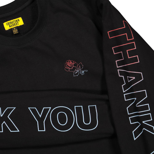 Chinatown Market Thank You Longsleeve ( CTMF19-TYLS / Black )