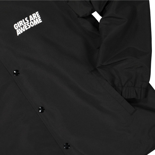 Girls Are Awesome Coach Jacket ( GAA-3-002U / Black )
