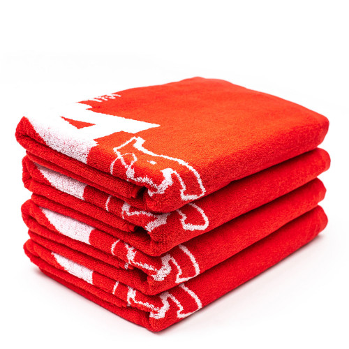 Montana Beach Towel Typo + Logo ( 497322 / Red )