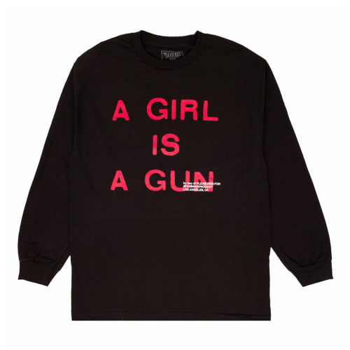 Pleasures Girl Is A Gun Long Sleeve T-Shirt ( P17F101071 )