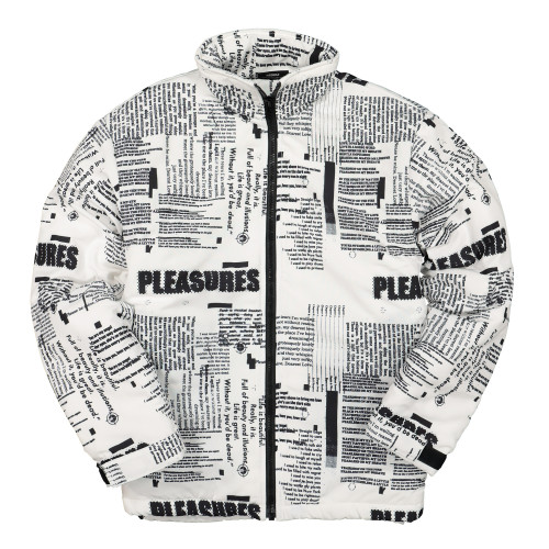 Pleasures Poems Puffer Jacket ( P19F103022 / White )