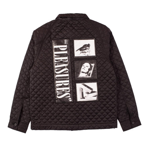 Pleasures Rodman Quilted Satin Chore Jacket ( P19P103011 )
