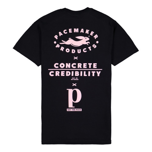 Pacemaker x Berlin Sets The Pace Tee ( PMB2 / Black / Pale Pink )