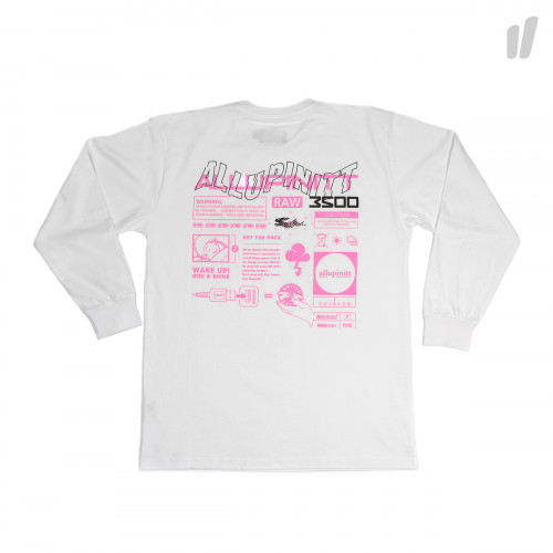 Pacemaker 200% Long Sleeve ( White / Shock Pink )