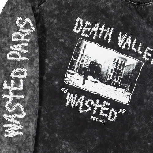 Wasted Paris Death Valley Longsleeve Tee ( Washed Black )