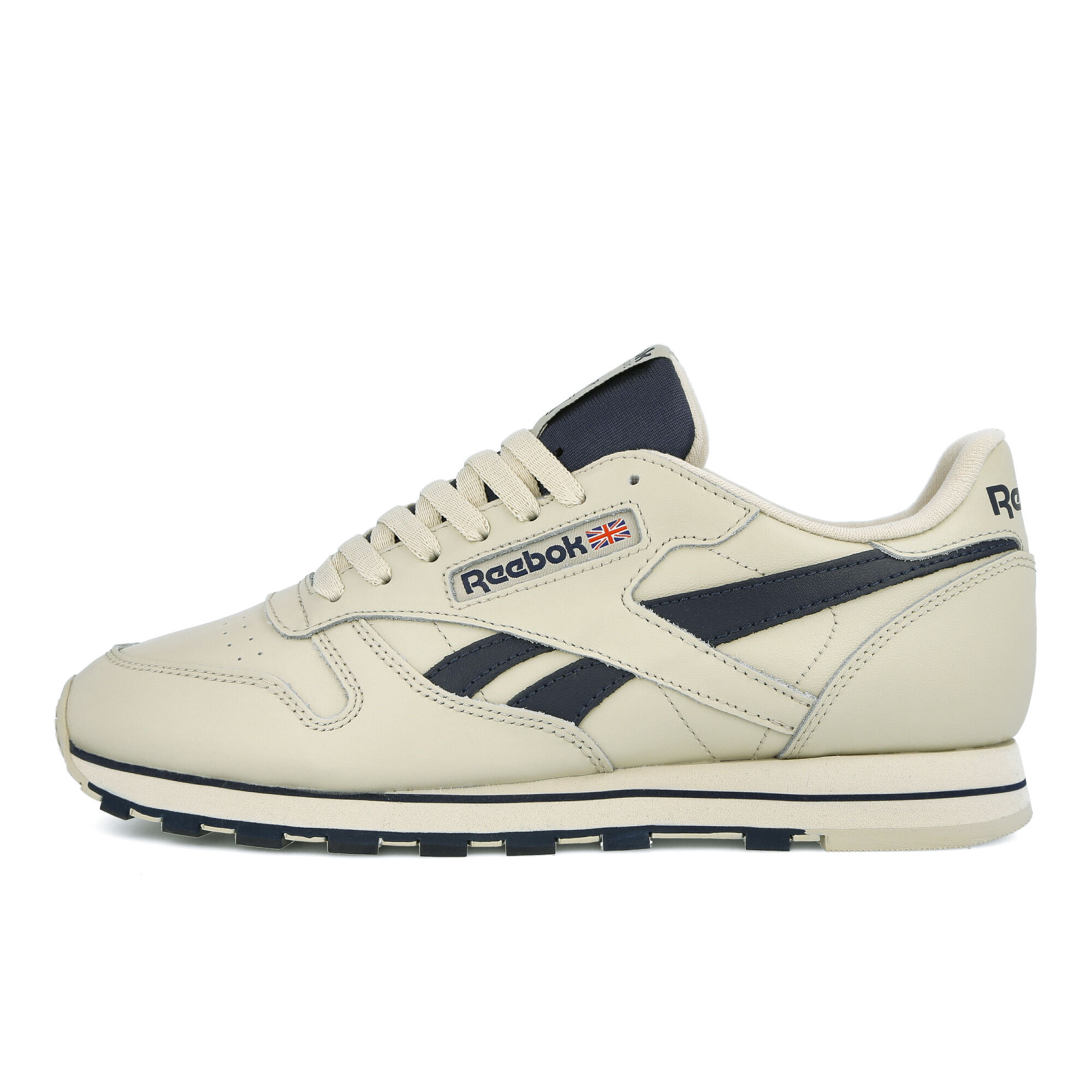 Reebok Classic Leather Mu Mens Gray Leather Low Top Lace Up Sneakers Shoes