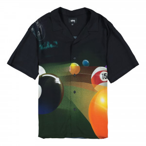 Stussy Pool Hall Shirt ( 1110119 / 0001 / Black )