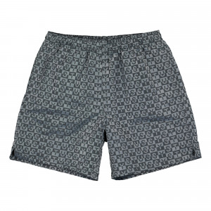 Stussy Check Nylon Short ( 112254 / 0002 / Charcoal )