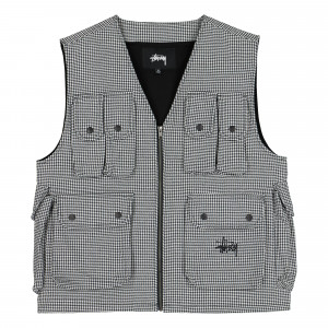 Stussy Houndstooth Work Vest ( 115517 / 2443 / Paisley )