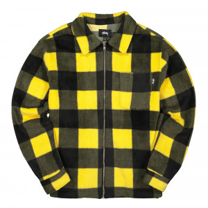 Stussy Polar Fleece Zip Up Shirt ( 118344 / 0201 / Yellow )