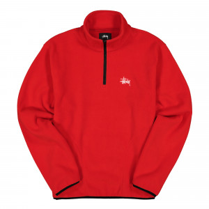 Stussy Basic Polar Fleece Mock ( 118347 / 0601 / Red )