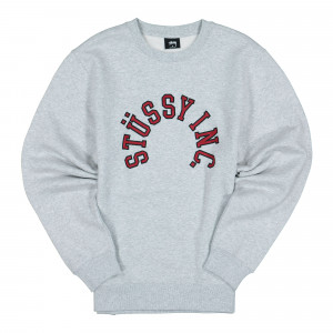 Stussy Collegiate App. Crew ( 118379 / 0062 / Ash Heather )