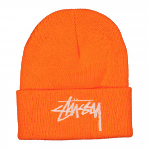 Stussy Big Stock Cuff Beanie ( 1321004 / 0602 / Orange )