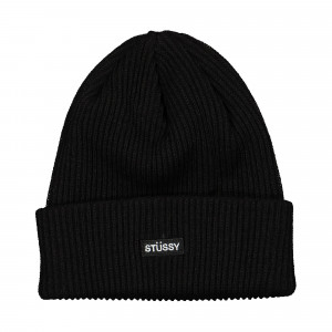 Stussy Small Patch Watchcap Beanie ( 1321009 / 0001 / Black )