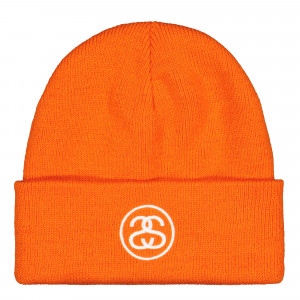 Stussy SS-Link Cuff Beanie ( 132937 / 0714 / Athletic Orange )