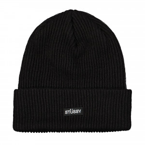 Stussy Small Patch Watchcap Beanie ( 132988 / 0001 / Black )