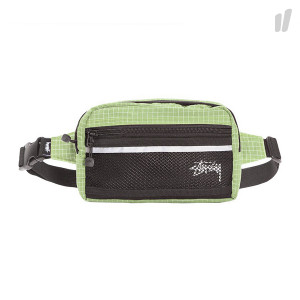 Stussy Ripstop Nylon Waist Bag ( 134187 / 0412 / Lime )