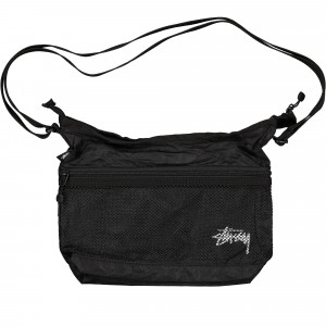 Stussy Light Weight Shoulder Bag ( 134212 / 0001 / Black )