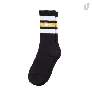 Stussy Stripe FA18 Crew Socks ( 138639 / 0001 / Black )