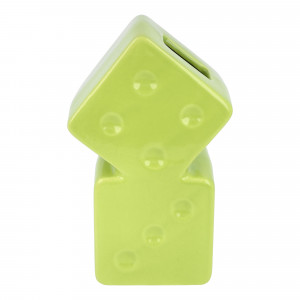 Stussy Dice Ceramic Vase ( 138703 / 0412 / Lime )