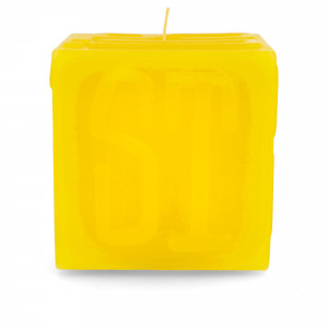 Stussy Cube Candle ( 138719 / 0201 / Yellow )