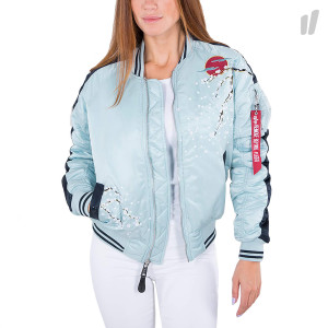 Alpha Industrie Wmns MA-1 Souvenir Jacket ( 178002 / 398 / Air Blue )