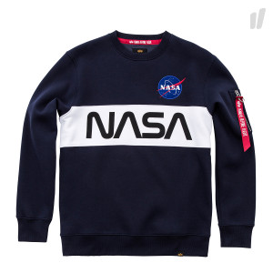 Alpha Industries NASA Inlay Sweater ( 178308 07 / Rep.Blue )