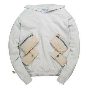 C2H4 Utility Multi-Pockets Data Cable Hoodie ( 18FW-006 / Gray )