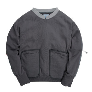 C2H4 Data Cable Crewneck ( FW18-009 / Dark Grey )