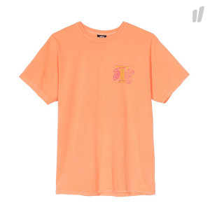 Stussy Column Pigment Dyed Tee ( 1904354 / 0607 / Coral )