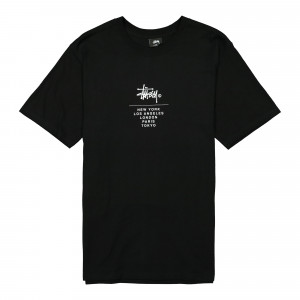 Stussy City Stack Tee ( 1904467 / 0001 / Black )
