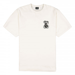 Stussy S Wreath Pigment Dyed Tee ( 1904491 / 1002 / Natural )