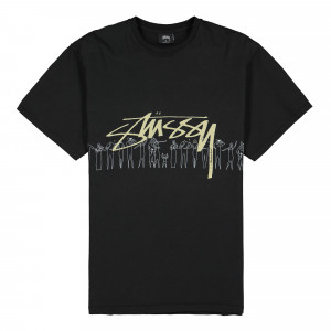 Stussy People Stripe Pigment Dyed Tee ( 1904555 / 0001 / Black )
