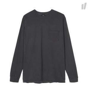 Stussy Camo Stock Pigment Dyed Pocket Longsleeve Tee ( 1954366 / 0001 / Black )