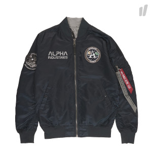 Alpha Industries MA-1 Moon Landing Rev ( 196125 / 07 / Rep Blue )