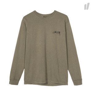 Stussy Modern Age Pigment Dyed Longsleeve Tee ( 1994312 / 0483 / Army )
