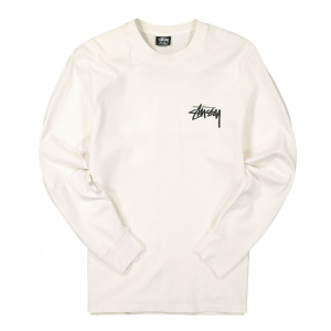 Stussy Spring Weeds Pigment Dyed Longsleeve Tee ( 1994680 / 1002 / Natural )