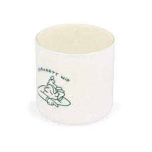 Carhartt WIP Reverse Midgas Fragrance Candle Wax ( I028741.08.00.06 / White / Bottle Green )