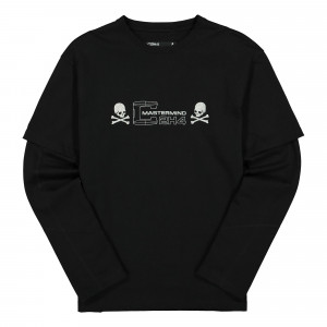 Mastermind x C2H4 Double Layer Long Sleeve T-Shirt ( MMJ20-011 / Black )