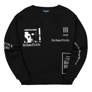 Born X Raised Eugene Crewneck ( B0020VCNK / Black )