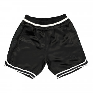 Born X Raised Sateen Basketball Shorts ( B2021SATN / Black )
