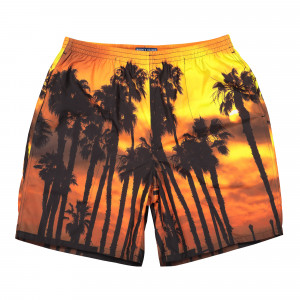 Born X Raised Sunset Swim Trunks ( B2023SNST / Multicolor )