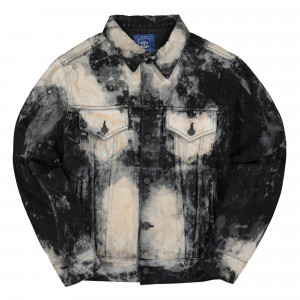 Born X Raised Embroidered Rocker Denim Jacket ( B3003EMRCK / Black )