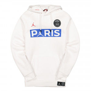 Paris Saint Germain x Air Jordan Jumpman Fleece Hoodie ( BQ8350 100 )