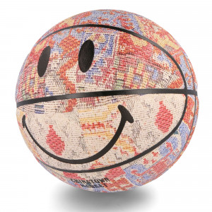 Chinatown Market Smiley Patchwork Rug Basketball ( CTM260323 / 1408 / Multi )