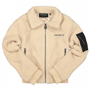 Wasted Paris Crop Vest Sherpa ( Desert )
